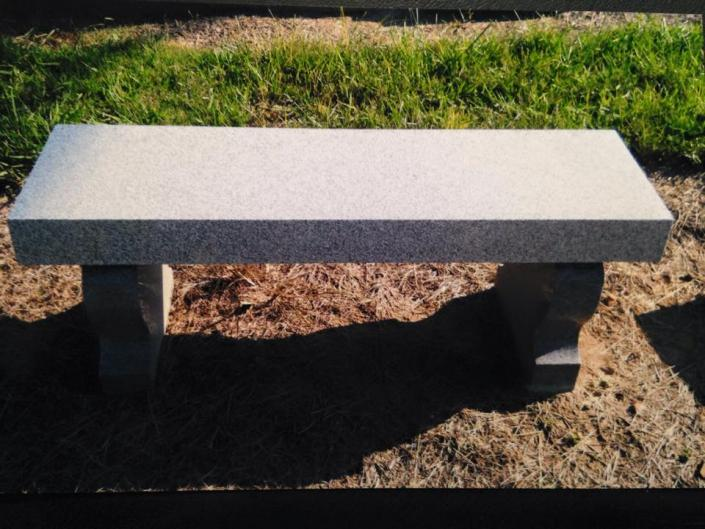 [Image: Granite benches offer a beautiful addition to a cemetery gravesite. They can be used as an alternative to a traditional monument. Memorial granite benches are available in a wide variety of designs and colors.]