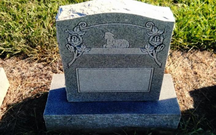 Children memorials can be created on a upright, slanted, flat or custom shape monument.]